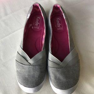 Keds  Ortholite Slip On Sneakers Grey SIZE 10